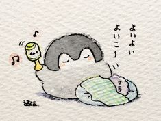 Penguin Cartoon, Penguin Party, Japanese Drawings, Cute Penguins, Cute Japanese, Kawaii Drawings, Kawaii Art, Illustrations And Posters, Cute Illustration