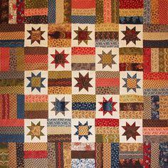 Star Quilt Patterns, Star Quilts, Plaid Quilt, Civil War Quilts, Star Blocks, Time Warp, California Style, Scrap, Blanket
