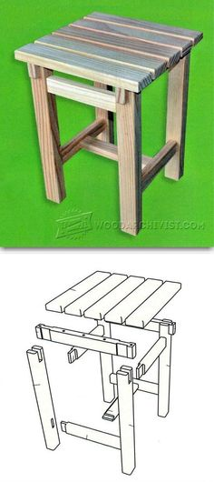 Stool Plans - Furniture Plans and Projects | WoodArchivist.com #outdoorfurniture