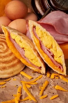 G' Day Jaffle is Ham, Egg and Cheese in a Toasted Pocket. Made with Cage Free Eggs, All Natural Ingredients, Healthy and No Junk!