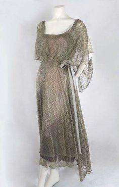 Silk lace dress, c.1923.