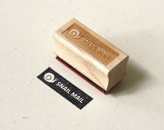 Wit & Whistle » snail mail stamp  Do want.