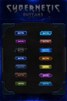 Cybernetic Buttons by VengeanceMK1.deviantart.com on @DeviantArt