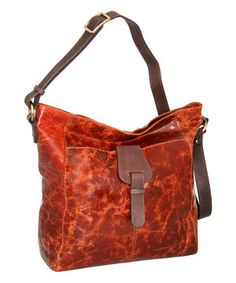 This Nino Bossi Handbags Cognac Colossal Leather Crossbody Bag by Nino Bossi Handbags is perfect! #zulilyfinds