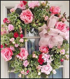 607... Pretty soft floral makes  peaceful looking wreath