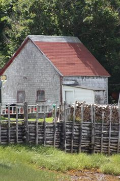 Old barn and fence. Cape Breton, Nova Scotia, Lighthouse, Fence, Beautiful Homes, Places To Visit, Shed, Barn, Canada