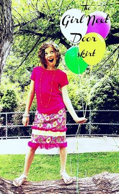 Girl next door #skirt #sewing #pattern Brassyapple.com