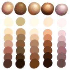 skin color palette - Google Search