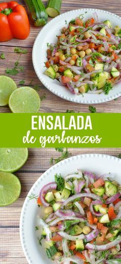 Ensalada de garbanzos #recetassaludables #ensaladassaludables #recetasveganas #ensaladasveganas #healthysalad #veganrecipes #garbanzos