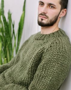 Wooly Jumper, Chunky Knitwear, Mens Jumpers, Men Sweater, Knitting, Boys, Sweaters, Fashion Trends, Outfits