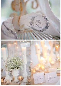 Shabby chic table scapes