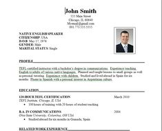Resume Types Free Resume Examples With Resume Tips  Sample Resume Resume .