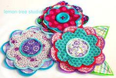 NEW Fresh Picked Flowers (Annabelle) -- Handmade Fabric and Felt Adornments via Etsy
