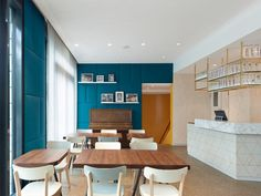 Cafe Pause (in Ostfildern, a suburb of Stuttgart) by Ippolito Fleitz Group Corporate Interiors, Hotel Interiors, Restaurant Interiors, Cafe Restaurant, Restaurant Design, Restaurant Ideas, Visual Merchandising, Interior Architecture, Interior Design