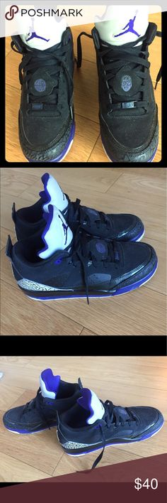 Spotted while shopping on Poshmark: JORDAN Son of Mars Low - black/purple -