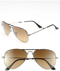 Ray-Ban 58mm Polarized Folding Aviator Sunglasses on shopstyle.com