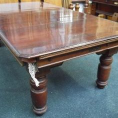 7ft Mahogany Jelks Antique Snooker Diner Table.The Challenge | Browns Antiques Billiards and Interiors.