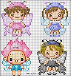 Fairies perler bead pattern