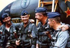 Colonel Olds and Co. During the Vietnam War. Fighter Pilot, Fighter Aircraft, Fighter Jets, North Vietnam, Vietnam War, Military Jets, Military Aircraft, Robin Olds, F4 Phantom