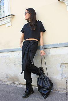 Купить Кожаная сумка мешок - черный, сумка, черная сумка, сумка мешок, Кожаная…