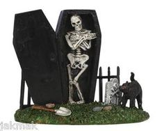 LEMAX Halloween SPOOKY TOWN GRAVEYARD Skeleton in Coffin New! | eBay