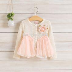 Kids autumn flower lace coat , coats for girls ,  5pcs/lot   DMJ30