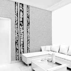 Wall decal BIRCH TREE 250 cm x 68 cm loony bin by LoonyBinWorkshop