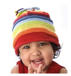 Kolorowa czapka w paski multi Pebble