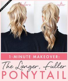 how to get a longer, fuller ponytail