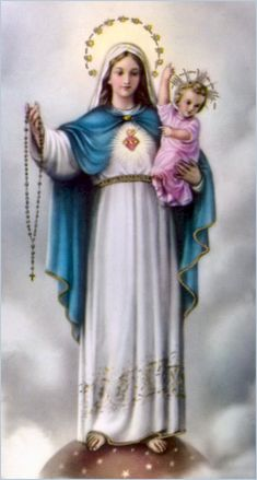 The Rosary. Hail Mary, Full of Grace, the Lord is with thee, blessed are thou among women and blessed is the fruit of thy womb Jesus. Holy Mary, Mother of God, Pray for us now and at the hour of our death.  Amen