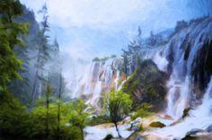 Love Affair By A Waterfall by Georgiana Romanovna https://fineartamerica.com/featured/love-affair-by-a-waterfall-georgiana-romanovna.html