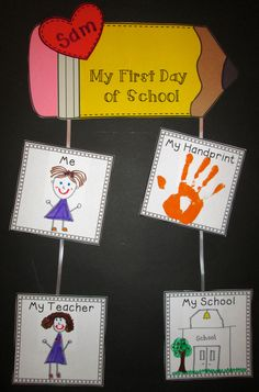 Make one of these with your kid every year so they can remember their first day of each grade