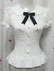 Candy Princess White Chiffon Short Sleeve Sweet Lolita Blouse – RUB p. Moda Lolita, Lolita Mode, Victorian Blouse, Victorian Fashion, Vintage Fashion, Vintage Mode, Princess Style, Mori Girl, Lolita Dress