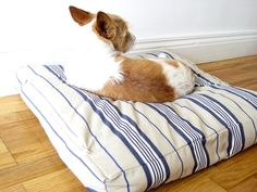 DIY dog bed, pillow tutorial, project
