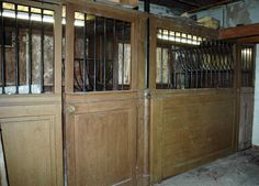 Stable wood and iron stalls (Reference - Available at Galerie Marc Maison Art Decor, Decor Room, Home Decor, Architectural Antiques, Buckingham Palace, Stables, Wood Paneling, Modern Interior, In The Heights