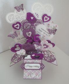 Popupbox - card in a box - spellbinderdies - diecut - spellbinders