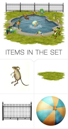 """""""Pool Party"""" by sjlew ❤ liked on Polyvore featuring art"""