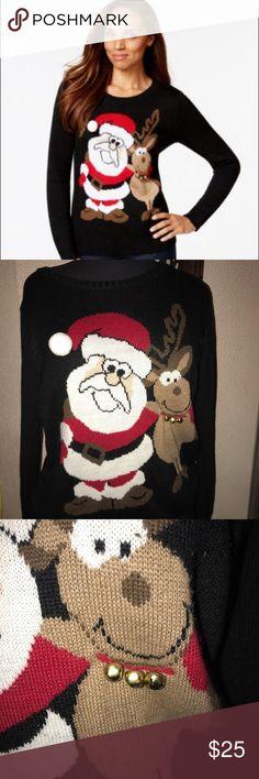 Super adorable Christmas sweater. The bells really jingle🤗🤗 Karen Scott Sweaters Crew & Scoop Necks