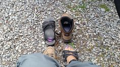 Changing footwear to have my first hike in the Rockies!