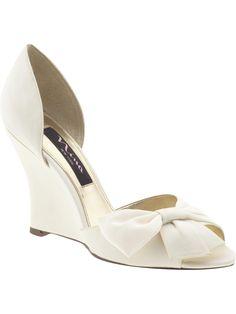 Great wedding shoe. Wedge is a nice alternative.