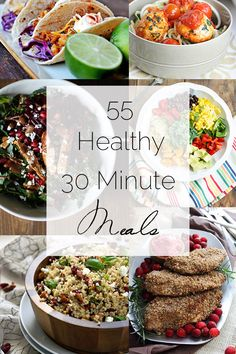 A collection of a TON of healthy, 30 minute meals! The post 55 Healthy 30 Minute Meals Roundup appeared first on Food Faith Fitness . Healthy Cooking, Healthy Snacks, Healthy Eating, Cooking Recipes, Healthy Recipes, 30 Min Meals, Quick Meals, Brunch, The Best