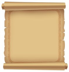 Decorative Ancient Scrolled Paper PNG Clipart Picture