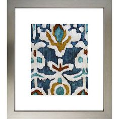 GUEST BED: Ocean Ikat Art 1  Two available in series. See also artwork pinned to MASTER BED