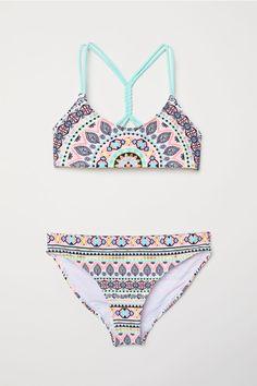 Mintás bikini - Türkiz/mintás - GYEREK   H&M HU 1