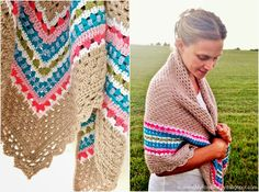 free Nordic shawl crochet pattern