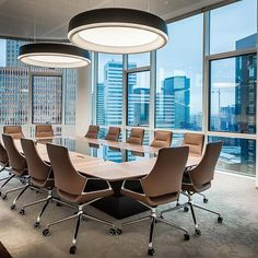 Suspended / Surface Lights - LP Grand from Louis Poulsen Office Interior Design, Office Interiors, Lawyer Office, Office Meeting, Meeting Rooms, Office Lighting, Industrial House, Room Lights, Cleaning Room