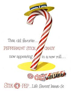 Don't you just love the red and white packaging on these delicious sounding peppermint Lifesavers candies?