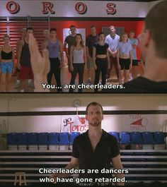 Bring It On. This scene is hilarious. Funny Movies, Good Movies, Amazing Movies, Tv Quotes, Movie Quotes, Funny Quotes, Bring It On Quotes, Classroom Humor, Movie Lines