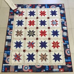 Quilt of Valor pieced and quilted by members of Quilt Guild by the Sea, November 2017