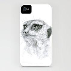 Meerkat iPhone Case by S-Schukina - $35.00